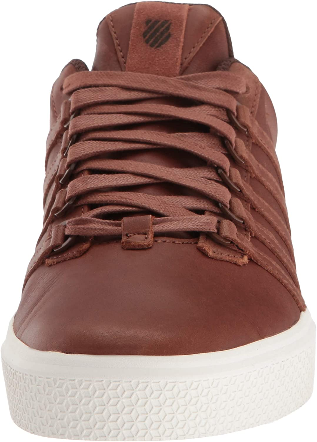 K-Swiss Donovan P, Chaussons Bas Homme Rouge Tortoise Shell Chocolate 279