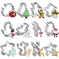 Moldes para Galletas Navidad, joyoldelf 12 Pcs Molde Galletas Navidad Cortadores de Galletas Moldes - Hombre de Jengibre…