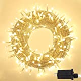 Super-Long 95FT 240 LED String Lights Outdoor/Indoor, Ultra-Bright Christmas Lights with 8 Lighting Modes, Plug in Fairy Stri