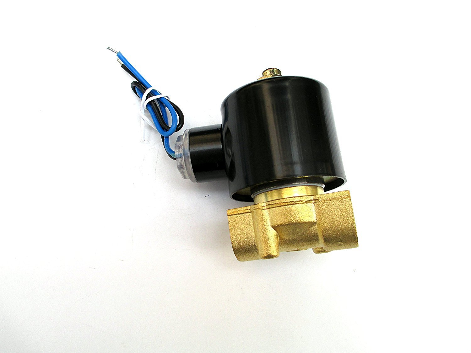 JEM&JULES 3/8 Solenoid Valve 24v DC Brass Electric Air Water Gas Diesel Normally Closed NPT