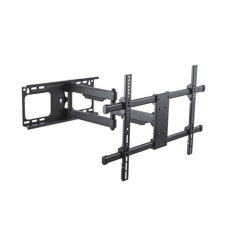 Conecto CC50275 Wandhalterung für TV Geräte mit 94-178 cm (37-70 Zoll), neigbar -15° bis 5°, schwenkbar -90° bis 90°, ausziehbar 69-615mm, Traglast max. 60,0kg, VESA 600x400, schwarz