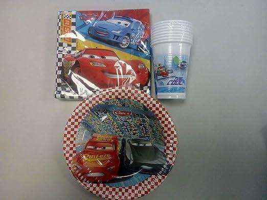 CAPRILO. Lote de Cubiertos Infantiles Desechables Cars ...