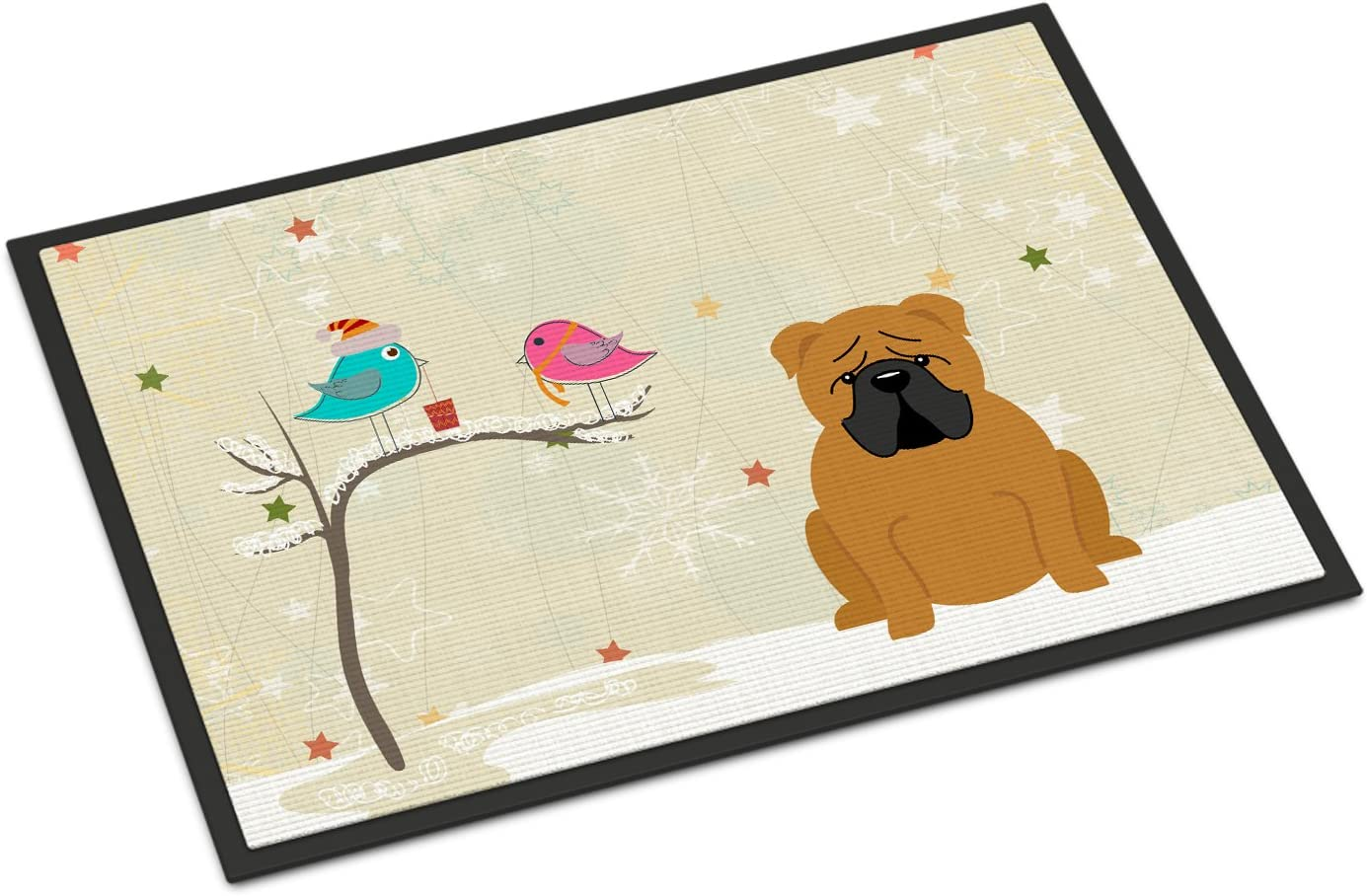 Carolines Treasures Christmas Carolers Manchester Terrier Floor Mat 19 x 27 Multicolor
