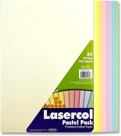 Premier Artículos de papelería lasercol (Tamaño A4, 80 g/m² ...