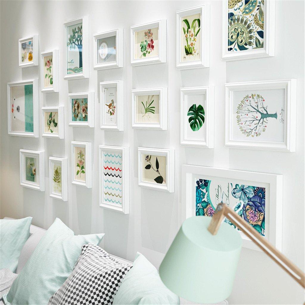 GUOPENGFEI® Massivholz Fotowand Wohnzimmer Schlafzimmer Hängende Wand Bilderrahmen Kombination Dekoration Sofa Fernsehen