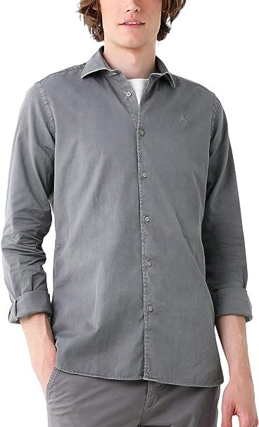Scalpers Camisa ALGODÓN Regular FIT - Grey / 43: Amazon.es: Ropa y accesorios