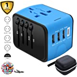 SZROBOY Universal Travel Adapter All-in-One International High Speed 3.0 Type C+3-Port USB Worldwide AC Wall Outlet Plugs for Business 200+