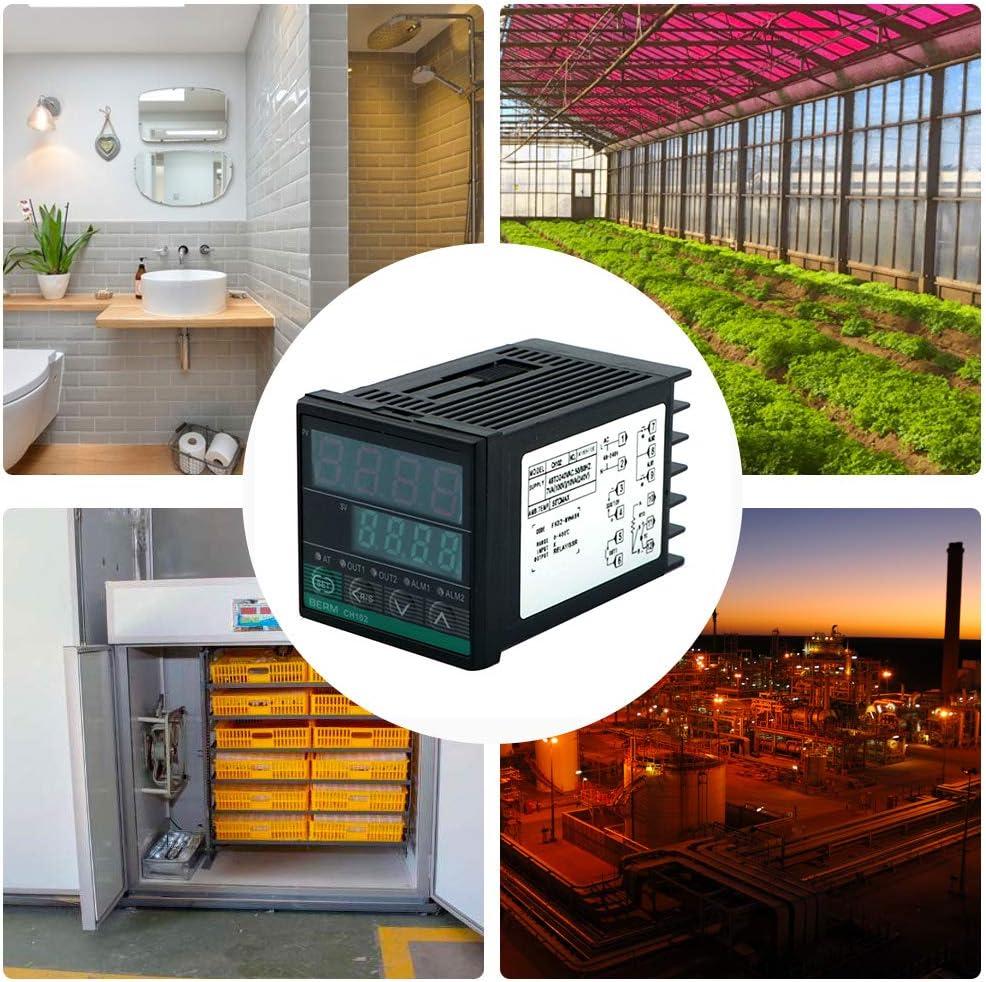 REX-CH102FK02-MVABN Intelligent Temperature Controller Digital Display 0-400℃ K Type Relay//SSR Output