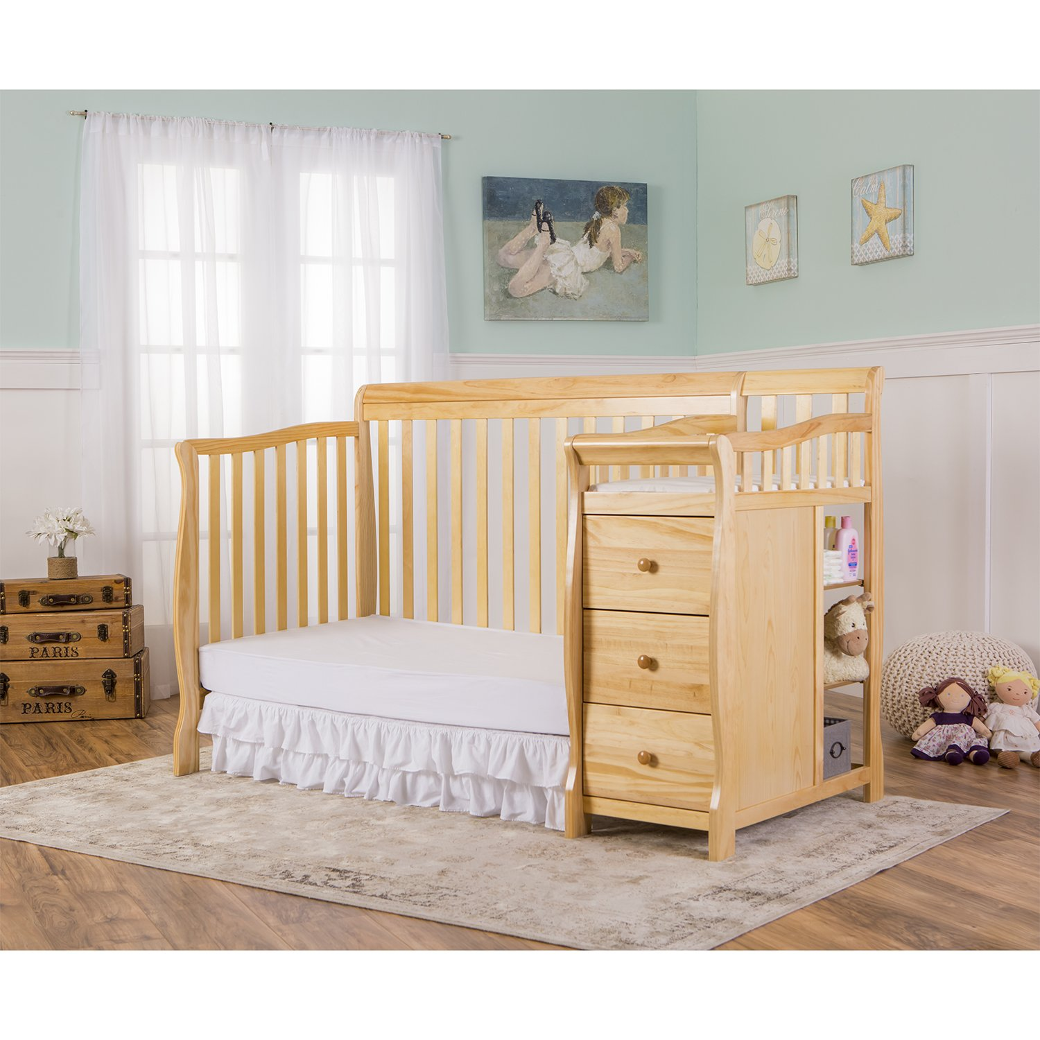 Dream On Me 5 in 1 Brody Convertible Crib with Changer, Natural by Dream On Me (Image #6)
