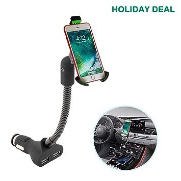 Cargador y Soporte Movil Coche,Soporte de Smartphone para iPhone XR / 8 Plus ,Galaxy S9/S8 Edge/ Note 9 /8 , Huawei etc.: Amazon.es: Electrónica