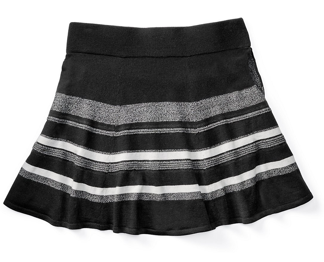 Smartwool Women's Cascade Valley Stripe Skater Skirt (Black) Small by SmartWool