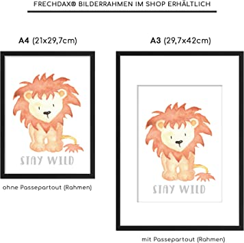 21 x 29,7cm Girl Art Print Frechdax Set of 3 A4 Posters for Babies/' or Children/'s Bedrooms without Frame Scandinavian Style Black//White or Coloured Children/'s Poster Set-30 Boy
