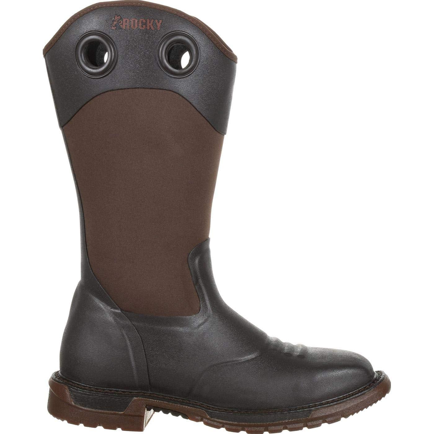 b4c2559d05b ROCKY Men's Original Ride FLX Waterproof Western Work Boot Steel Toe