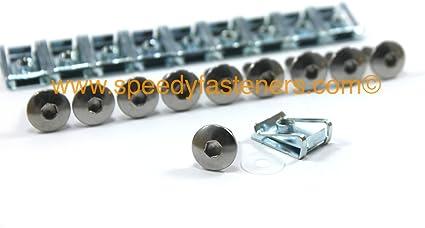 Pack de 10 tornillos y clips de carenado para motocicleta, 5 mm ...