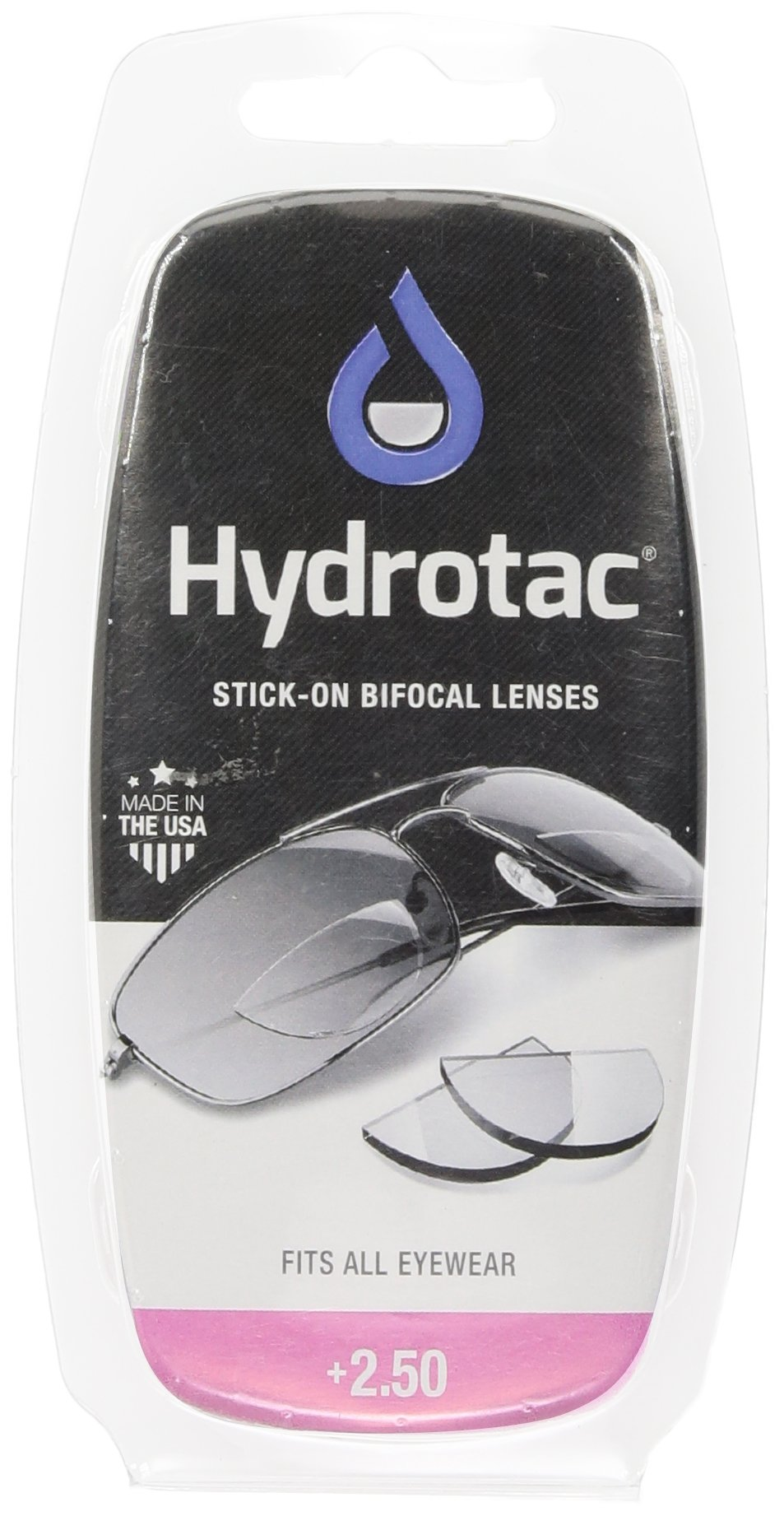 Optx 20/20 Hydrotac Stick-On Bifocal Reading Lens, +250 by OPTX 20/20