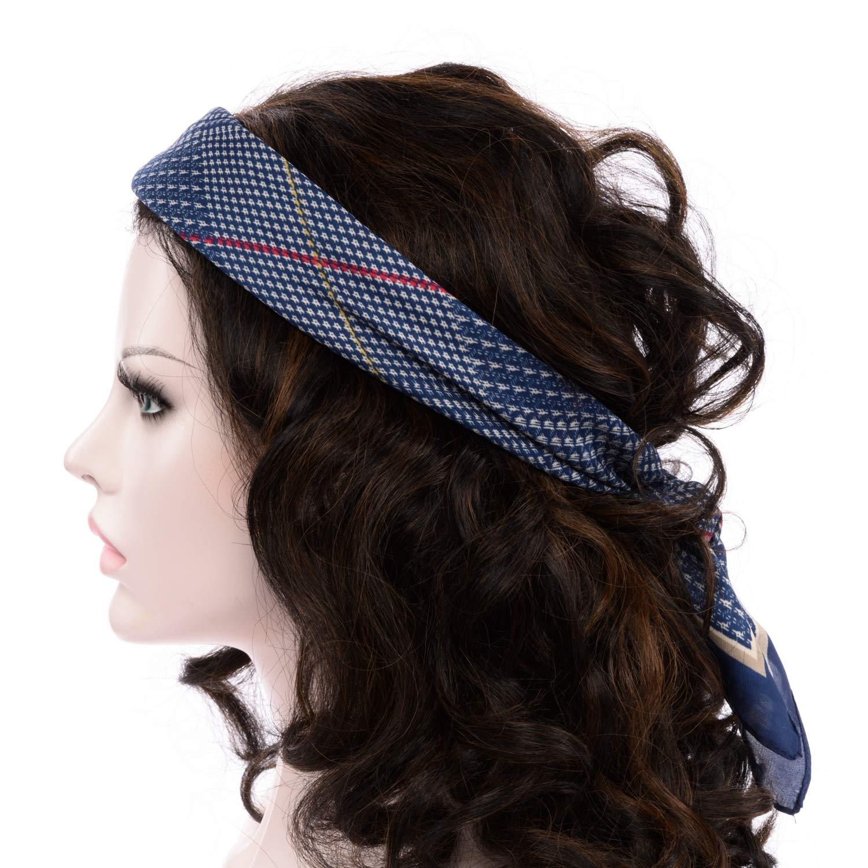 0bfec8871e9 BeCann Soie Comme Écharpe Carré Satin Cheveux Foulard Foulards Pour Femmes  27.5    x 27.5    (Bleu)  Amazon.fr  Vêtements et accessoires