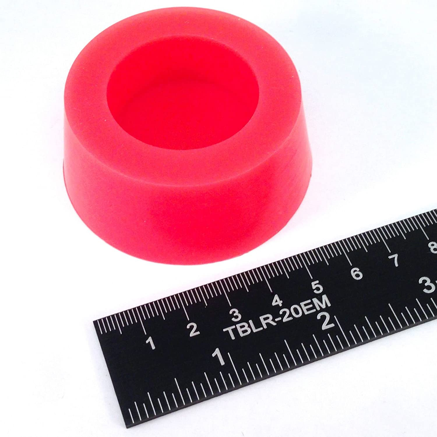 "(1) 2 1/8"" x 2 1/2"" #12 High Temp Silicone Rubber Tapered Stopper Plug Powder Coating Paint Masking"