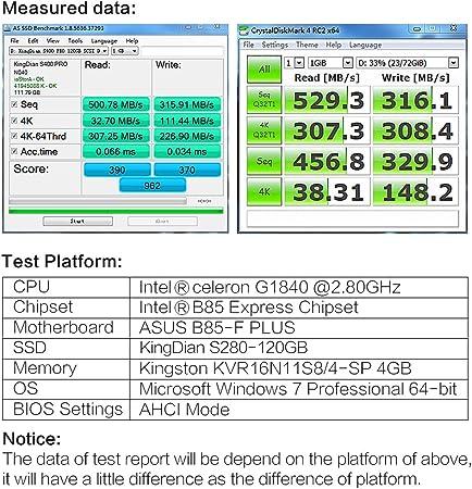 KingDian - Disco duro SSD, 60, 120, 240 y 480 GB, con 128 MB de ...