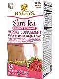 HYLEYS Tea Slim Tea Raspberry - 25 Tea Bags (100% Natural, Sugar Free, Gluten Free and Non-GMO), 1.32 Ounce (Pack of 1)