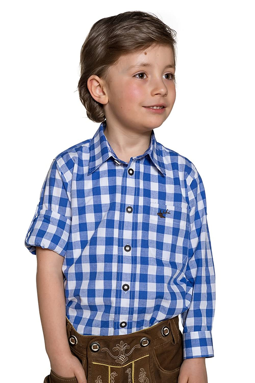 OS-Trachten Jungen Kinderhemd blau karo Chris 140782