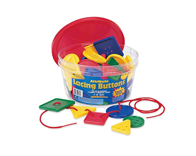 7bfd6317c2fe Amazon.com: Learning Resources Attribute Lacing Buttons, Set of 48: Office  Products