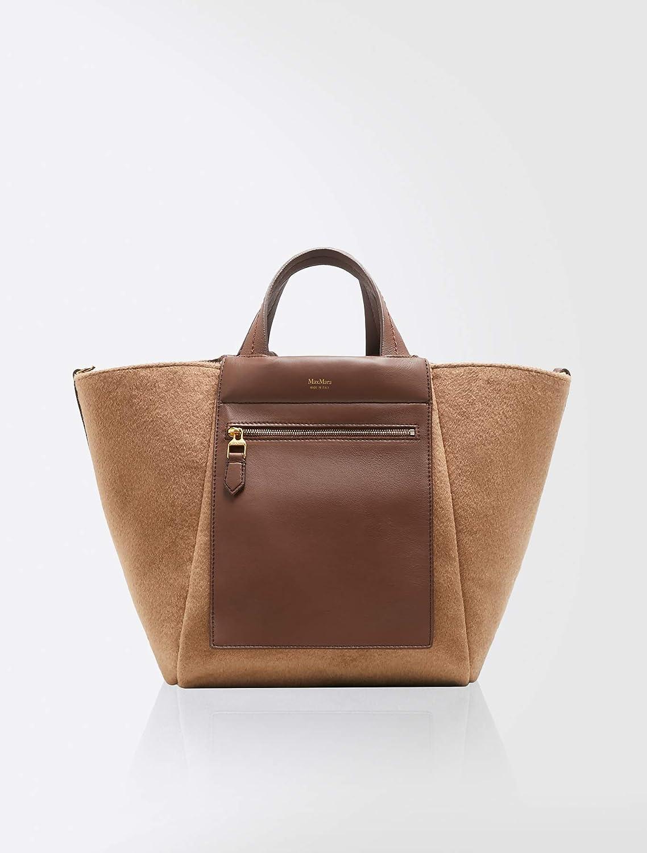 (マックスマーラ) MaxMara Women`s Large reversible shopper bag 女性の大型リバーシブルショッパーバッグ(並行輸入品) B07H71TRX5 Tobacco One Size