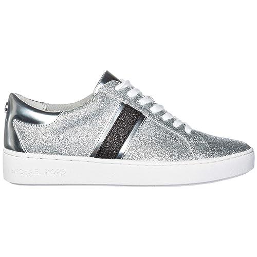 MICHAEL by Michael Kors Zapatos Keaton Zapatillas Glitter Plata Mujer: Amazon.es: Zapatos y complementos