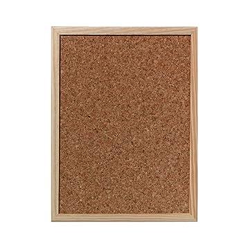Pinnwand 80x120 cm Pinnboard mit einem Holzrahmen Korktafel Korkpinnwand 80x120 cm