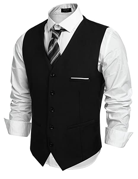 313ed44ad57 COOFANDY Men's Fashion Formal Slim Fit Business Dress Suit Vest Waistcoat
