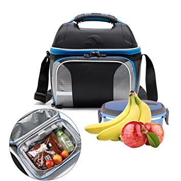 WHT Bolsas de Almuerzo para Mujeres niños Hombres, Bolsas de Comida con Aislamiento Bolsas de Almuerzo niños Bolsas de Comida Trabajo Bolsas de ...
