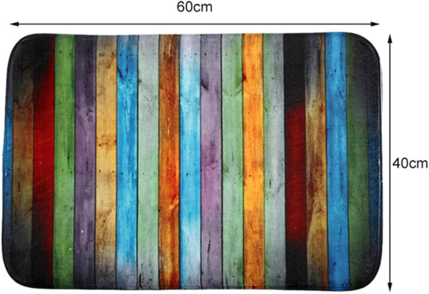 40x60cm GGZX Nouvelle Chambre /à Coucher en Bois color/ée Devant des Tapis antid/érapants Tapis de Bain 1PC Tapis Tapis de Salle de Bain Tapis Chine