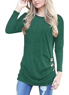 Dasbayla Damen Pullover Sweatshirt Langarm T Shirt Tops Rundhalsausschnitt Bluse Oberteile