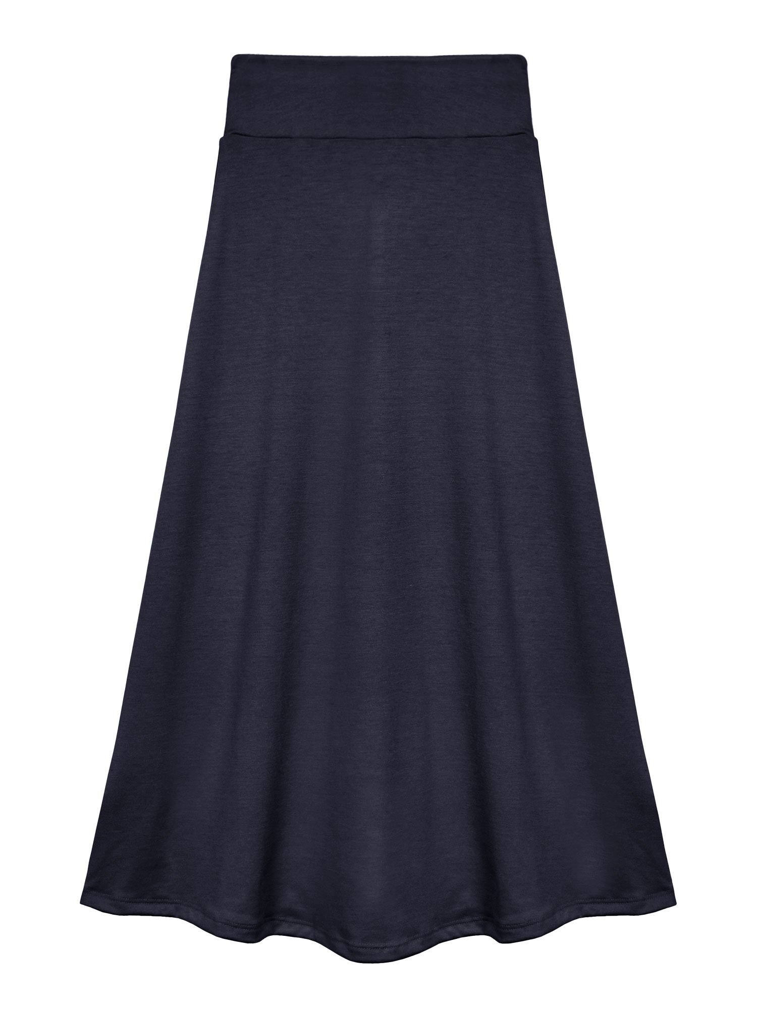 Bello Giovane Girls 7-16 Years Solid Maxi Skirt (X-Large, Navy)