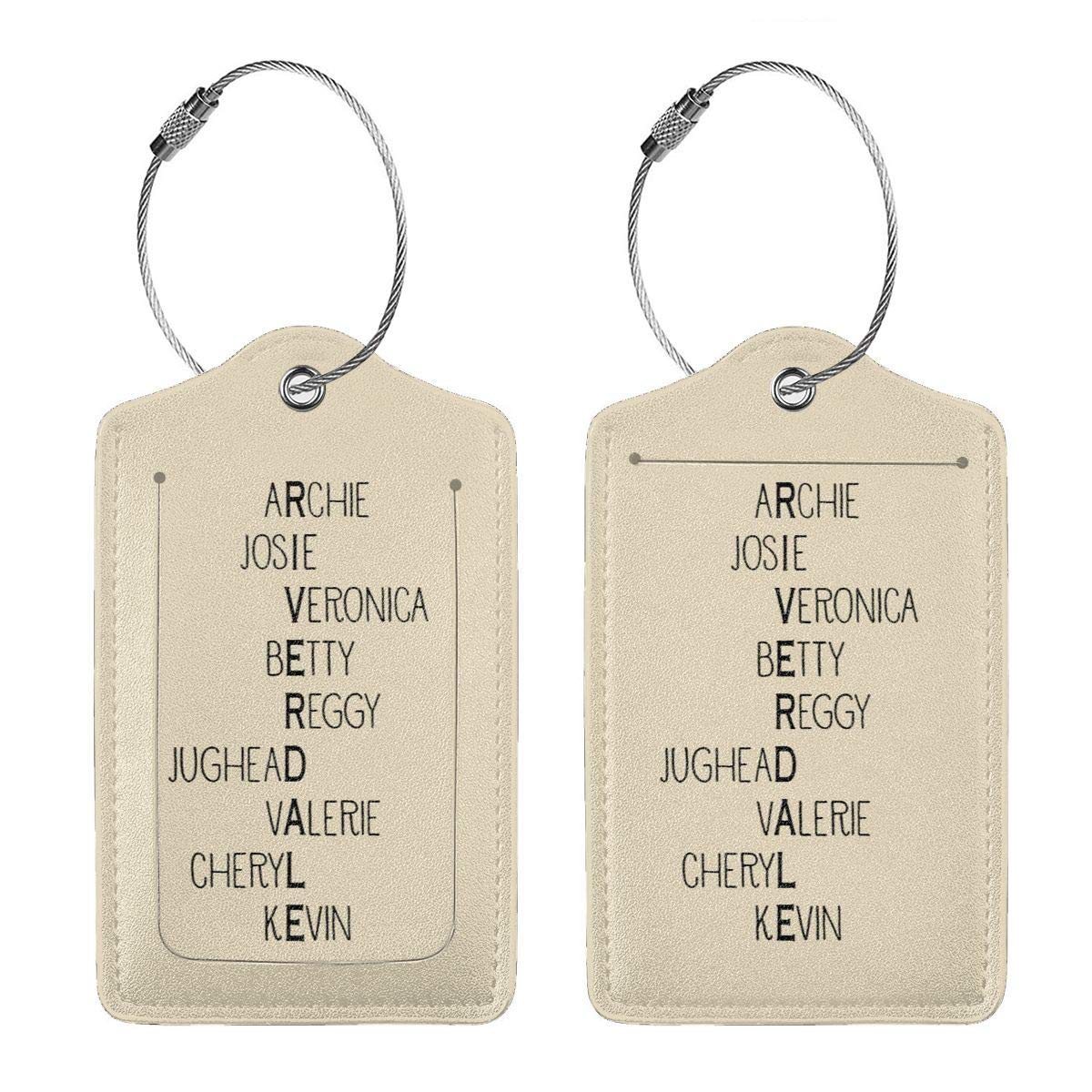 Riverdale High School Inspired Characters Leather Luggage Tag Travel ID Label For Baggage Suitcase