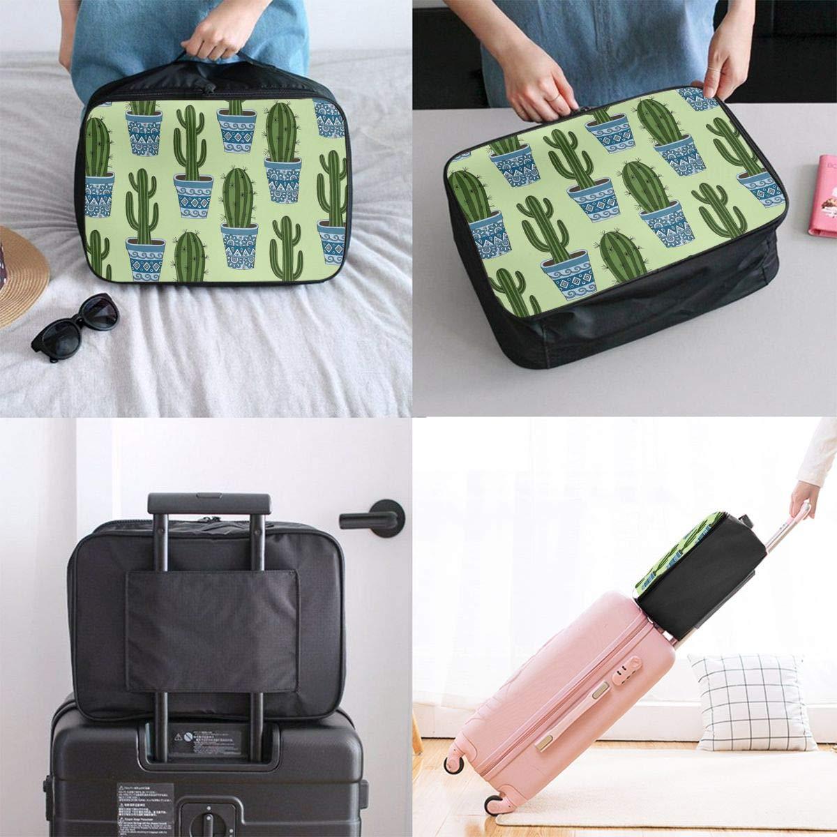 Women /& Men Foldable Travel Duffel Bag Cactus Plant Green For Luggage Gym Sports