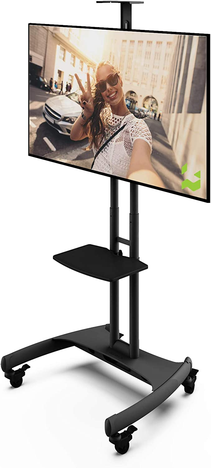 Kanto MTM65PL Height Adjustable Mobile TV Stand with Adjustable Shelf for 37-inch to 65-inch TVs | Supports up to 80 lb Total | Integrated Cable Management |: Home Audio & Theater