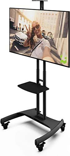 Kanto MTM65PL Mobile TV Stand with Mount for 37 to 65 inch Flat Panel Screens – Black