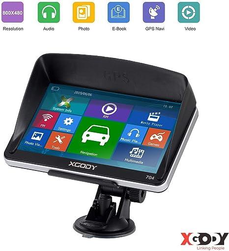 XGODY 718 7/'/' Car Truck GPS Navigation System with Free Lifetime Map 8GB Sat Nav
