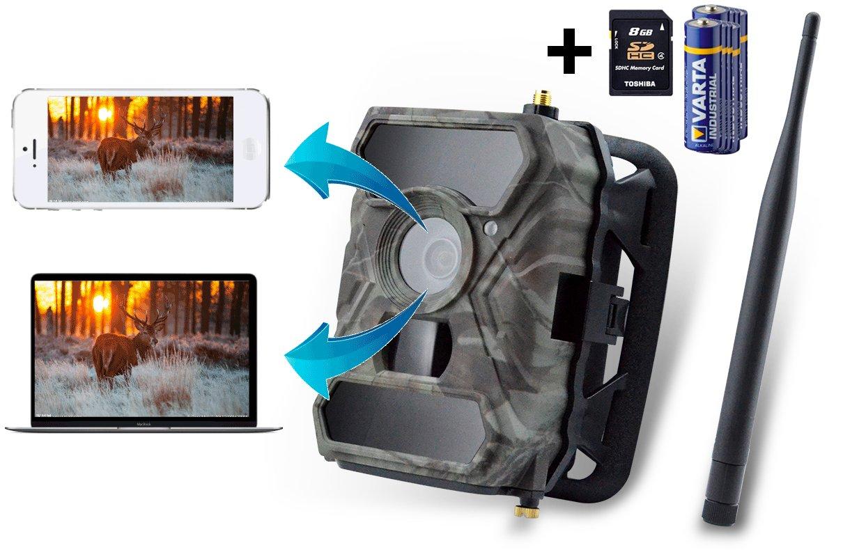 Cámara de vigilancia Icuserver 3G, cámara de vida silvestre (3G GPRS GSM) con Fotoapp, cámara de caza, 0,4 s de tiempo de disparo, foto trampa, ...
