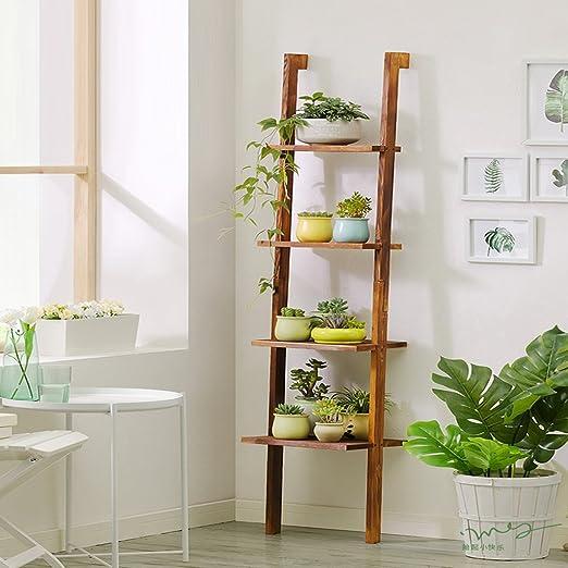 Flower stand Estante de madera maciza Escalón de escalera de ...