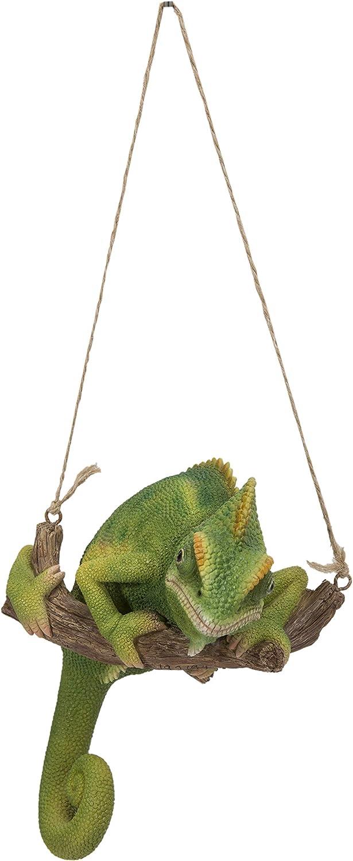 Hi-Line Gift Ltd. Green Chameleon ON Tree Branch