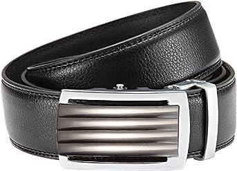 Eg-Fashion Herren Anzug Gürtel Automatikschließe 3,5 cm Breite - Individuell kürzbar - Stufenlos verstellbar