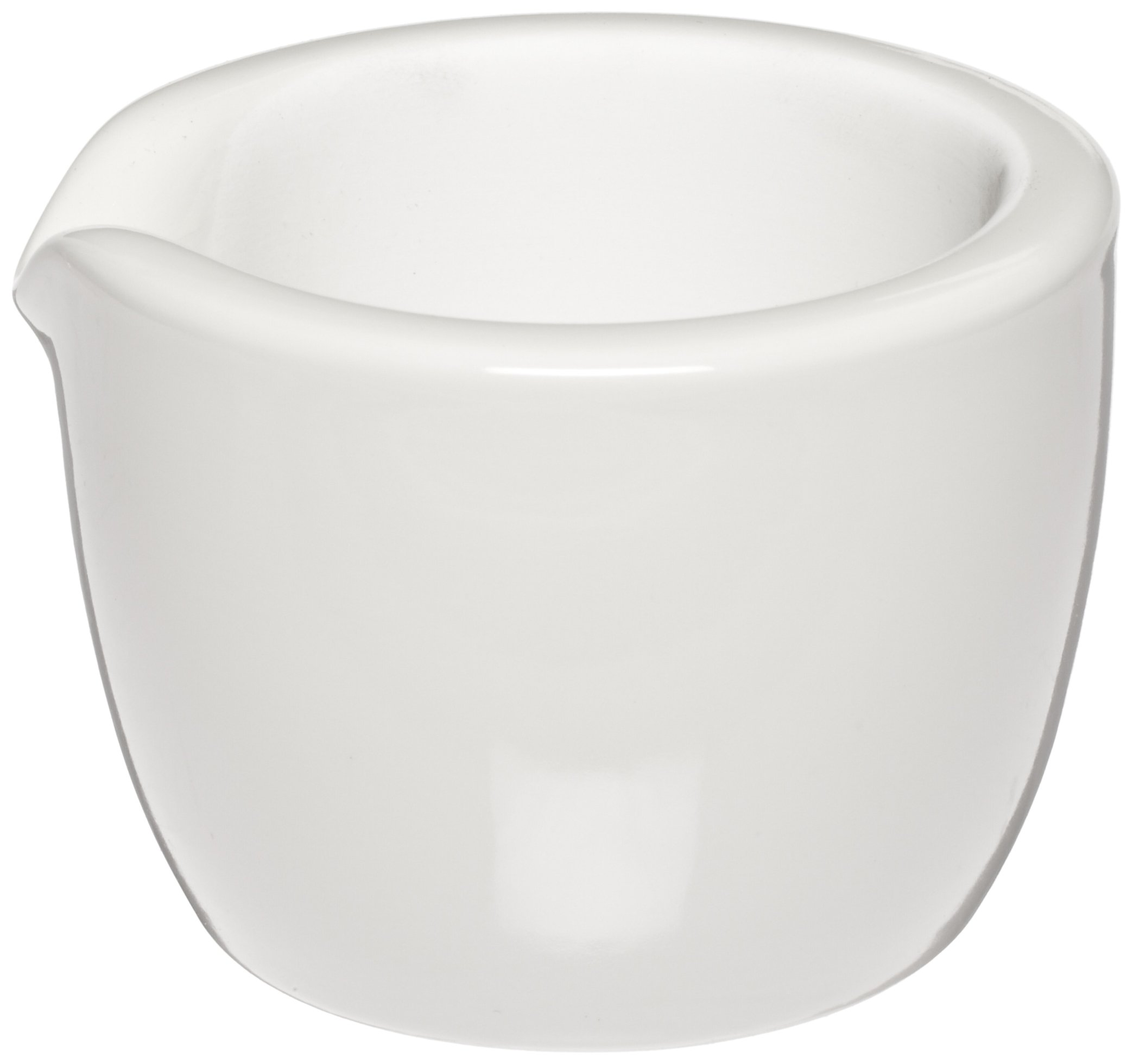 CoorsTek 60319 Porcelain Ceramic Mortar with Pouring Lip, 275mL Capacity, 115mm OD, 70mm Height (Case of 8)
