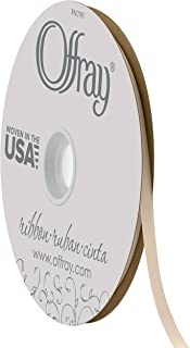 "product image for Offray 1/4"" Wide Double Face Satin Ribbon, 100 Yards, White Cream"