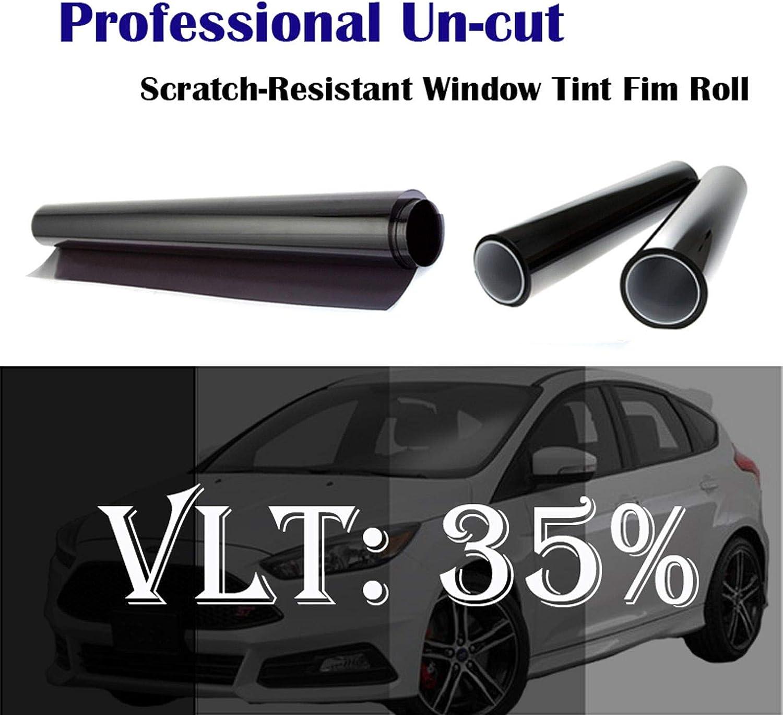 Mkbrother 35 Vlt 61 Cm X 762 Cm Hitze Und Uv Block Profi Fenster Tönungsfolie Für Auto Küche Haushalt