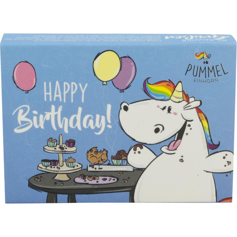 Pummeleinhorn Grusskerze Happy Birthday Blau Amazon De Kuche