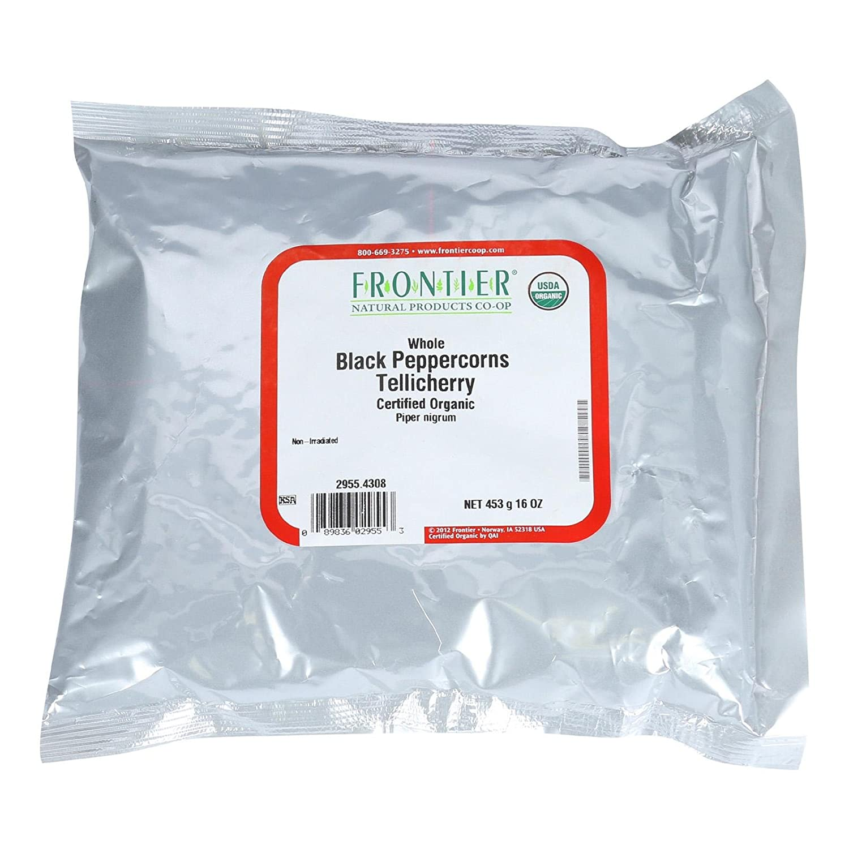 Amazon.com : Frontier Herb Bulk Peppercorns Organic Whole Black ...