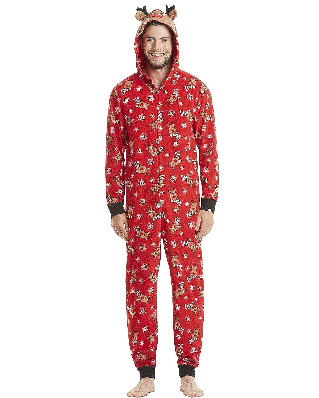 602bf3023b59 Amazon.com  GIKING Christmas Matching Family Pajamas Set Santa s Deer Sleepwear  Jumpsuit Hoodies  Clothing
