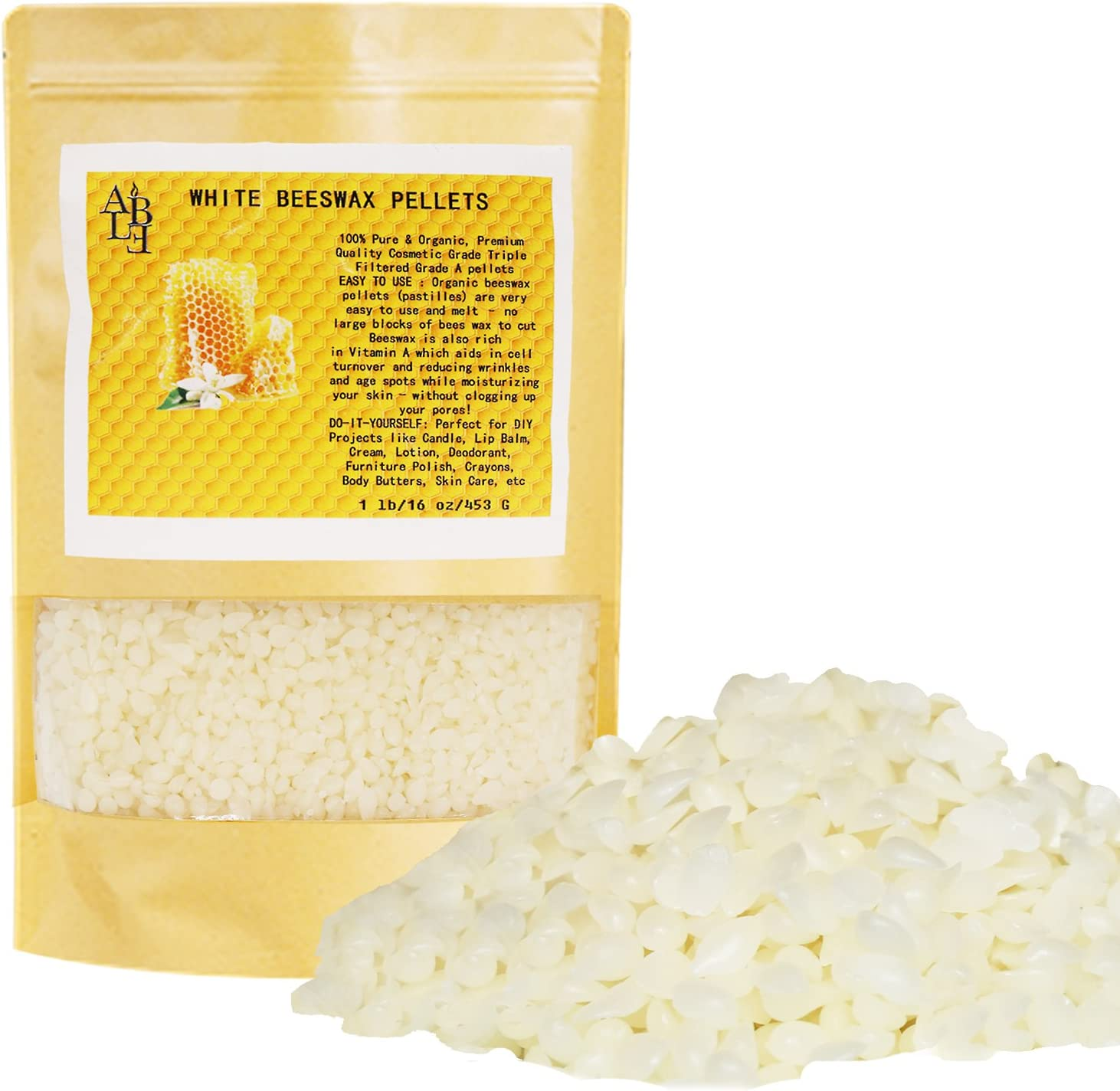 YIH 10-lb Pure White Beeswax Pellets-100/% Pure