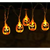 Amazon Price History for:20ct Halloween Orange Pumpkin String Lights Battery Operated 20pcs LEDs Halloween Holiday Decoration